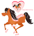 Happy horses vector image vector image
