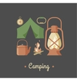 Hiking and camping vintage hipster poster vector image vector image