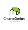home leaf creative residential business logo vector image vector image