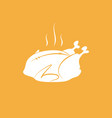 hot thanksgiving turkey on orange background vector image