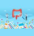 human colon digestive medicine health pills drug vector image vector image