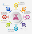 infographic template with e-commerce icons vector image vector image