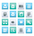 internet and web site icons over color background vector image