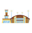 isolated modern airport in metropolis on white vector image