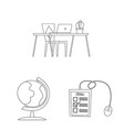 isolated object of education and learning logo vector image vector image