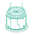 isometric big industrial oil tank isolated on vector image vector image