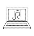 laptop music note sound application vector image vector image