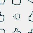 Like icon sign Seamless pattern with geometric vector image