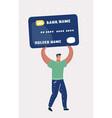 man bearing credit card vector image