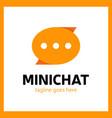 mini chat logo vector image