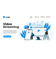 modern flat design video streaming can be used vector image