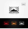 mountain sun rise logo vector image vector image