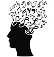 musical note head vector image