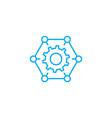 organizational process linear icon concept vector image vector image