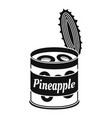 pineapple tin can icon simple style vector image vector image