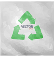 recycled paper vector image vector image