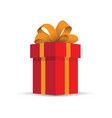 red present gift vector image vector image