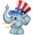 Republican Elephant Cartoon Character vector image