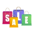 sale labels like shopping bag vector image vector image