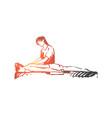 salon massage therapy body care concept vector image