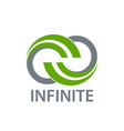 science nature green infinity logo concept design vector image
