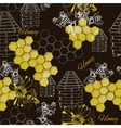 seamless pattern honey vector image vector image