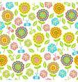 seamless pattern of flowers butterflies leaves vector image vector image