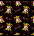 seamless pattern with scary evil jokers vector image