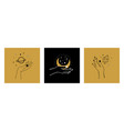 set cards womens hands holding planet moon vector image