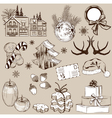 Set of Christmas decoration vector image vector image