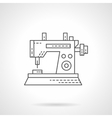 Sewing machine icon flat thin line icon vector image vector image