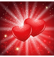 shining hearts vector image