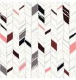 Sketchy herringbone seamless pattern vector image vector image