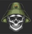 skull bucket hat vector image vector image
