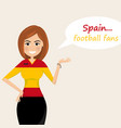 spain football fanscheerful soccer fans sports vector image vector image