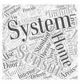 Standard Home Security System Information Word vector image vector image