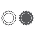 sun line and glyph icon cosmos and space solar vector image