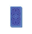 Tarot cards reverse side Deck Stack of cards vector image vector image