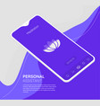 trendy responsive meditation and mood ui with 3d vector image vector image