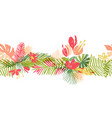 tropical flower hand drawn header vector image vector image