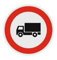 truck is prohibited icon flat style vector image