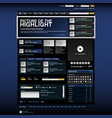 web design website element template button a web vector image
