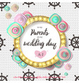 wedding flower gold mint vector image vector image