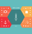 wheat or rye spikelet icon vector image