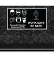Work Safe Be Safe advertising board vector image