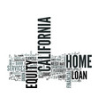 z home equity loan california text word cloud vector image vector image