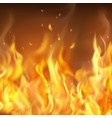 abstract hot burning firewall template vector image