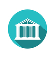 bank building in the style of a classical Greek vector image