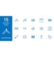 15 bathroom icons vector image vector image