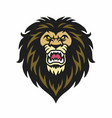 angry lion head logo vector image vector image